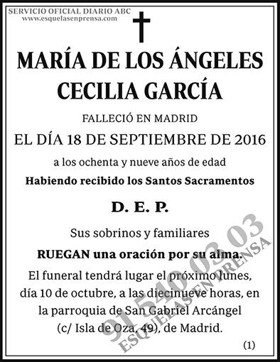 María de los Ángeles Cecilia García